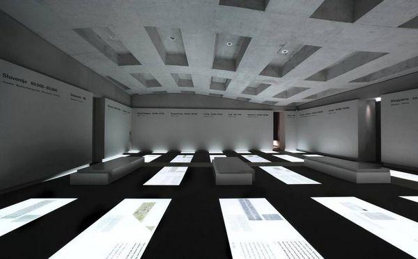 Underground part of the Holocaust Memorial in Berlin
