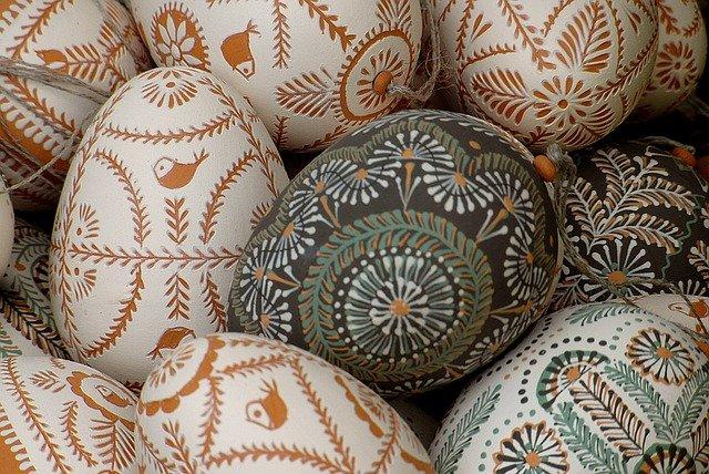 Polish painted eggs - pisanki