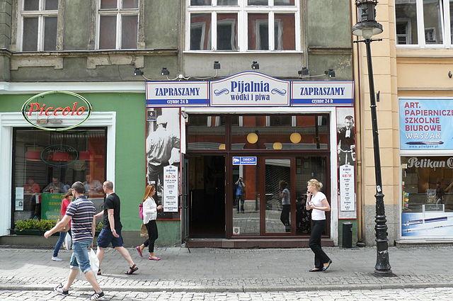 Polish vodka drinking bar i Poznań