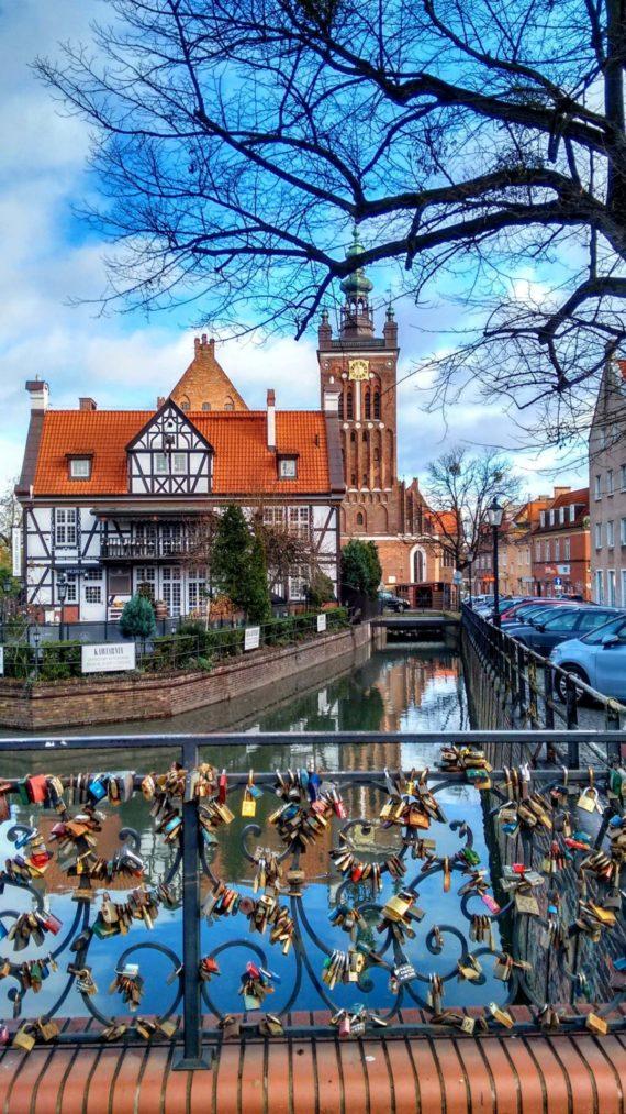 Gdańsk love bridge