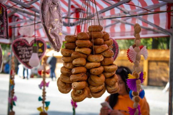Pretzels sold during Easter fair in Kraków.