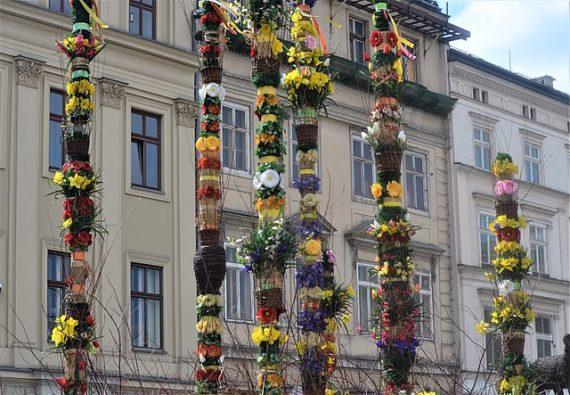 Easter palms in Kraków.