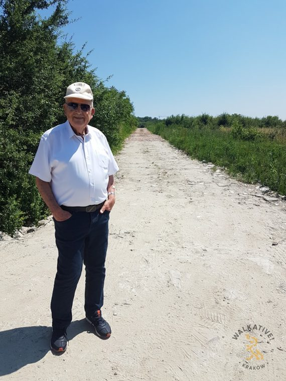 Marcel Kurzmann at the site of the new street, named after his grandfather, Dawid Kurzmann.